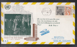 2020 ) Free Shipping To //  Beautiful Cover Of The Vatican In 1965, Worth Watching Safely  (7) - FDC