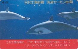 Télécarte Japon / 110-011 - ANIMAL - BALEINE ORQUE - ORCA WHALE Japan Phonecard - 342 - Delfines