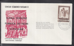 2020 ) Free Shipping To //  Beautiful Cover Of The Vatican In 1965, Worth Watching Safely  (9) - FDC