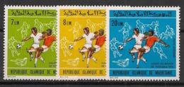 Mauritanie - 1974 - Poste Aérienne PA N°Yv. 138 à 140 - Football WM 74 - Neuf Luxe ** / MNH / Postfrisch - Mauretanien (1960-...)
