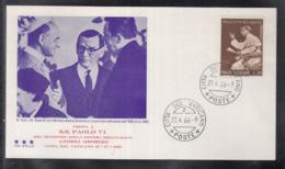 2020 ) Free Shipping To //  Beautiful Cover Of The Vatican In 1966  Worth Watching Safely  (1) - FDC
