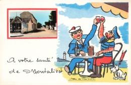33 Montalivet à Votre Santé Hotel Des Voyageurs Fantaisie Illustration Illustrateur + Photo Format Cpa - France