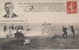 CPA Monoplan Morane-Saulnier Piloté Par Brindejonc Des Moulinais à Son Départ Pour Son Raid Des Capitales 4860 Km - Aviateurs
