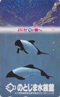 Télécarte Japon / 110-007 - ANIMAL - DAUPHIN ORQUE - ORCA Dolphin  Japan Phonecard Telefonkarte - 343 - Delfines