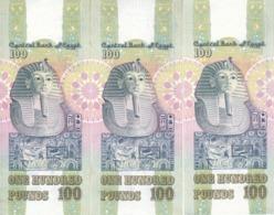 EGYPT 100 POUNDS EGP 1992 P-53b SIG/Salah Hamed #16 LOT X3 UNC NOTES */* - Aegypten