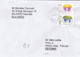 GOOD BULGARIA Postal Cover To ESTONIA 2019 - Good Stamped: Mushrooms - Storia Postale