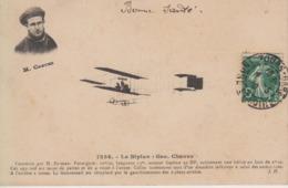 """CPA Le Biplan """"Geo Chavez"""" - Construit Par H. Farman ... - Aviateurs"""