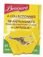 MAGNET LA GIRAFE D'AFRIQUE SAVANE BROSSARD  ( SOUDAN ) - Animales & Fauna