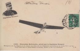 CPA Monoplan Antoinette, Piloté Par Le Capitaine Burgeat - Aviateurs