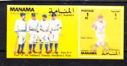 Manama   - 1972. Baseball. Sheet Tridimensionale. MNH, - Baseball