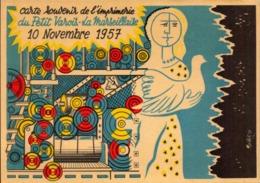 Metier, Imprimerie, Imprimeur, Journal, Presse, Petit Varois La Marseillaise, 1957    (bon Etat) - Artisanat