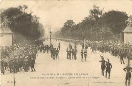 75 PARIS VISITE DE S.M ALPHONSE XIII A PARIS PLACE DE LA CONCORDE Editeur  CLC - Francia