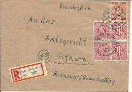 1946 Einschreiben Von Stuttgart-Stammhein Nach Gifhorn - Zone Anglo-Américaine