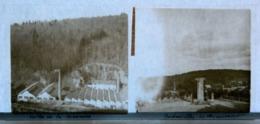Plaque De Verre - 2 Vues - Vallée De La Semeuse - Usines - Badonviller - Monument - Glass Slides