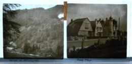 Plaque De Verre - 2 Vues - Vallée De Wildenstein - Paris Plage - Glass Slides