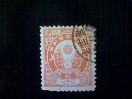 Japan, Scott #81, Used (o), 1888, Sun, Kikumon, And Kiri, 20s, Orange - Used Stamps