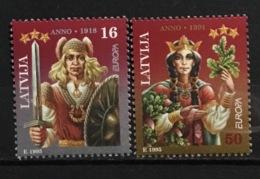 LATVIA # 407-408.  Europa - Peace And Freedom. MNH (**) - Lettonie
