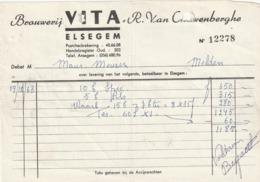 1 FACTUUR BROUWERIJ VITA ELSEGEM - Invoices