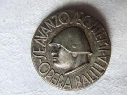 INSIGNE ITALIEN  ITALIE FASCISTE MUSSOLINI DUCE OPERA BALILLA ??  A VOIR - 1939-45