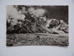 74 Massif Du MONT-BLANC Mer-de-Glace Au Fond: Aiguille Du Géant 4013 M Montagnes - Chamonix-Mont-Blanc