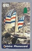AU.- Telstra Phonecard $10. Kialoa Line Honours Syd/Hob 1975. Australia. AUSTRALIË.   0132563172. - Deportes