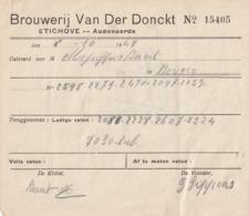 1 FACTUUR BROUWERIJ VAN DER DONCKT ETICHOVE - Invoices