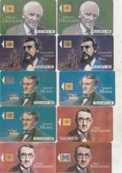 COLLECTION DES 12 FIGURES DES TELECOMMUNICATIONS 1992.1993.1994 SOIT 29 CARTES VERSOS DIFFERENTS 3 Scans - Telefoni
