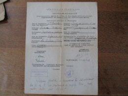 ORDRE DE MISSION 30 AOUT 1940 Mme GENTILE INSTITUTRICE PUBLIQUE PAIMPOL-LE CATEAU STANDORTKOMMANDANTUR PAIMPOL UNTERSCHR - Dokumente