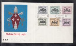 2020 ) Free Shipping To //  Vatikan Vaticano 1968 FDC -  Porto: New Coats Of Arms Drawings - FDC