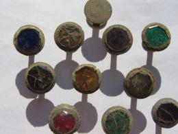 Ancient Bronze Cufflinks With Inserts 19 AD - Arqueología