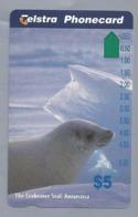 AU.- Telstra Phonecard $5. The Crabeater Seal. Antarctica. Australia. AUSTRALIË.   0121027725 - Tarjetas Telefónicas