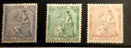 Antillas N 22/24. Sin Charnela. - Cuba (1874-1898)