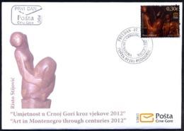 2012 FDC, Art In Montenegro Trough The Centuries, Montenegro, MNH - Montenegro