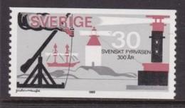 TIMBRE NEUF DE SUEDE - TRICENTENAIRE DU SERVICE DES PHARES SUEDOIS N° Y&T 641 - Lighthouses