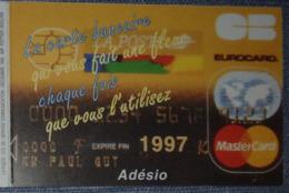 Petit Calendrier De Poche 1997  La Poste Carte Bancaire Adésio - Format Carte Bancaire 2 Volets - Calendars