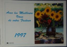 Petit Calendrier De Poche 1997 La Poste PTT Meilleurs Voeux Facteur  Fleurs Tournesols - Calendars