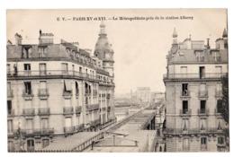 CPA 75 PARIS 16e Le Métropolitain Travaux Ligne Passy Bir Hakeim Pris De La Station Albony Alboni Passy Ed. E. V. - Arrondissement: 16