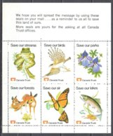 Canada Label - Save This Land Of Ours - Fauna, Flora, Butterflies - MNH(**) - Butterflies