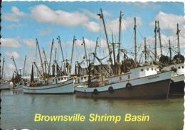 CPA-1960-USA-BROWNSVILLE SHRIMP BASIN-CHALUTIERS CREVETTIERS -TBE - Pêche