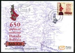 2012 FDC, The 650th Anniversary Of The Entfronement Of Đurađ Balšić, Montenegro, MNH - Montenegro