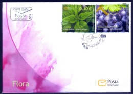 2012 FDC, Flora, Montenegro, MNH - Montenegro