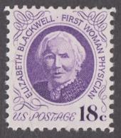 USA 1974. Scott 1399. 18c Dr. Elizabeth Blackwell. Perf. 11 X 10½ Neuf, MNH - Neufs