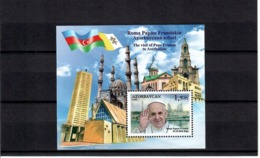 Azerbaijan 2016 . Pope Francis Visit To Azerbaijan(Flags). S/S: 1.5m.  Michel # BL 173 - Azerbaiján