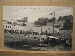 BELLE-ILE-EN-MER  Départ Du Bateau Poste - Belle Ile En Mer