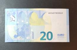 20 EURO 2015 France Draghi U023 E2 Xxx60 ! - 20 Euro