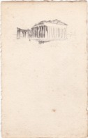 D1669 CARTE AVEC DESSIN (DE STYLE NUAGE) DE RUINES GRECQUES OU ROMAINES - Cartoline