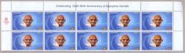 UGANDA 2019 New Stamp Issue GANDHI Birth Anniversary-block Of 10 Stamps OUGANDA - Mahatma Gandhi
