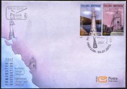 2012 FDC, Lighthouses, Montenegro, MNH - Montenegro