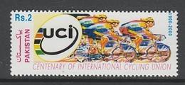 TIMBRE NEUF DU PAKISTAN - CENTENAIRE DE L'UNION CYCLISTE INTERNATIONALE N° Y&T 1020A - Cycling