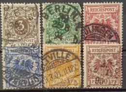 DEUTSCHES REICH 1889 - Canceled - Mi 45, 46, 47, 48, 49, 50 - Usados